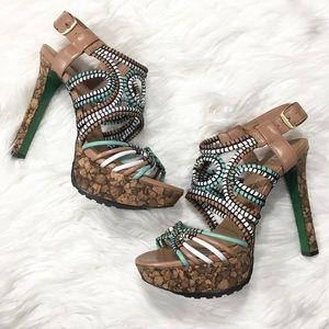 Lisa for Donald J. Pliner Danisa Woven Cork Heels